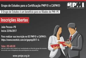 Inscrições Abertas - Grupo de estudos PMP® e CAPM® - João Pessoa-PB