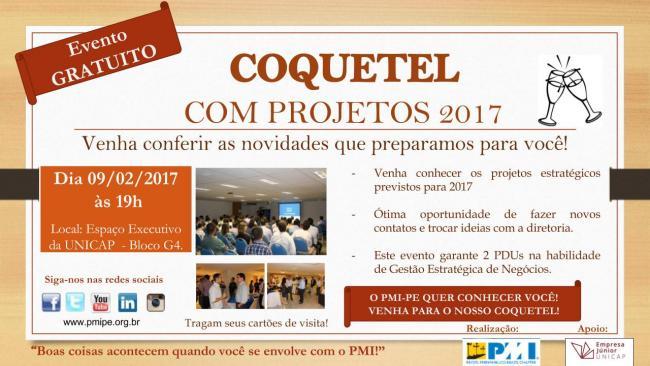 Coquetel com Projetos 2017 - Baixe as apresentações