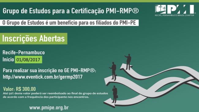 Inscrições Abertas - Grupo de Estudos - Certificação PMI-RMP® (Riscos)