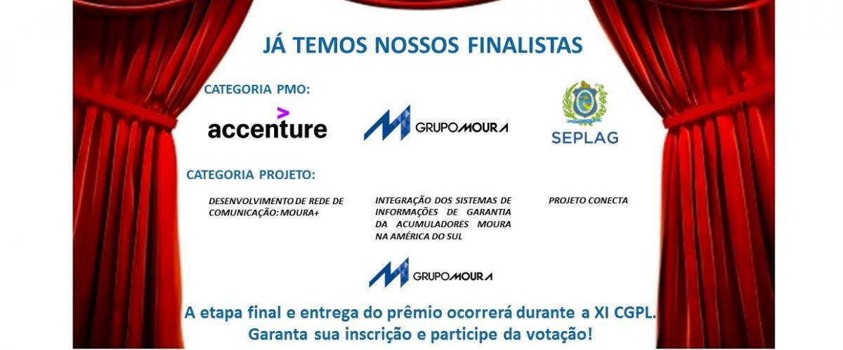 Finalistas do Prêmio PMI-PE Melhores do Ano