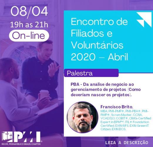 Encontro de Filiados e Voluntários - Evento Online
