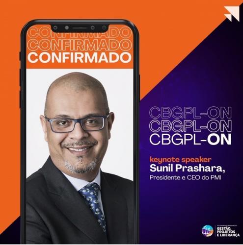 Palestrante Sunil Prashara no CBGPL On 2020