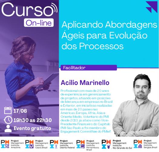 Curso On-line: Aplicando Abordagens Ágeis para Evolução dos Processos