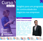 Curso On-line: Insights para um programa de continuidade dos negócios nas empresas