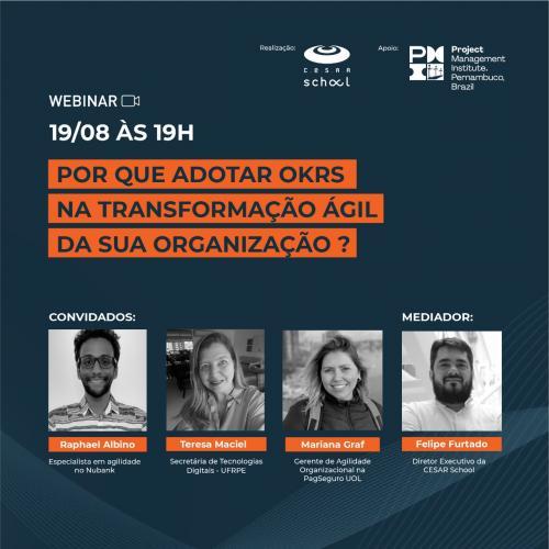 Webinar OKR - Cesar School x PMI - PE