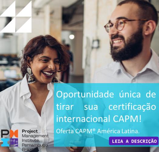 Oportunidade única de tirar sua certificação internacional CAPM!