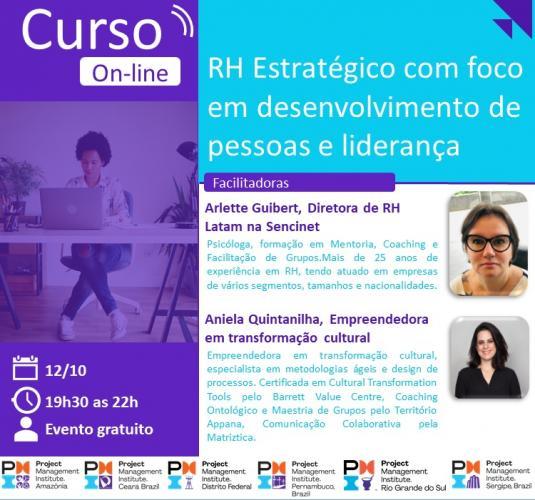 Curso Online | RH Estratégico com foco em desenvolvimento de pessoas e liderança