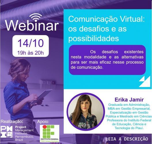 WEBINAR - Comunicação Virtual: os desafios e as possibilidades