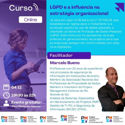 Curso Online | LGPD e a influência na estratégia organizacional