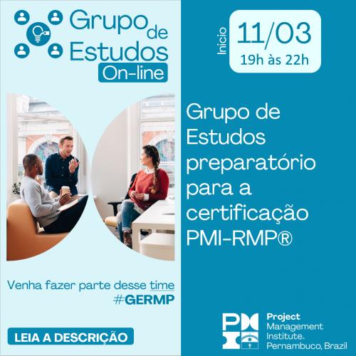 Grupo de Estudos preparatório para a certificação PMI-RMP® (Gerenciamento de Riscos)