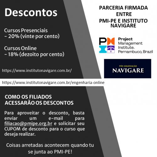 Parceria PMI-PE e Instituto Navigare