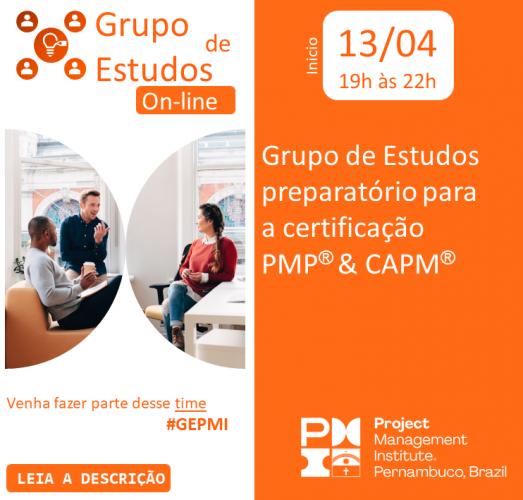 Inscrições Abertas - Grupo de Estudos PMP® e CAPM®