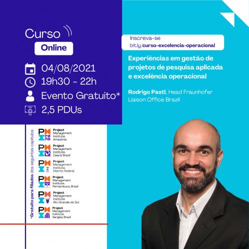 Curso Online | Experiências em gestão de projetos de pesquisa aplicada e excelência operacional