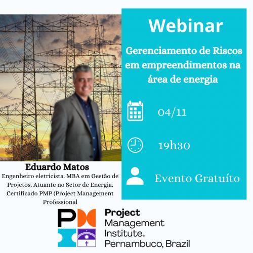 A Webinar - Gerenciamento de Riscos em empreendimentos na área de energia