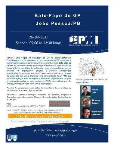 Bate-Papo de GP em JP - Oficina de Projetos (João Pessoa/PB)