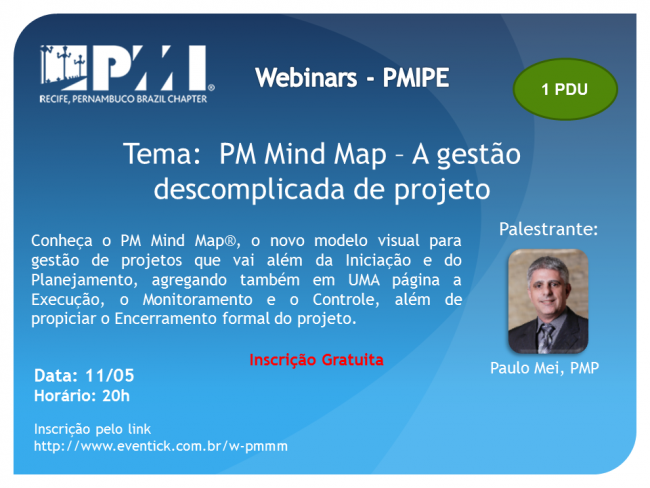 Webinar - PM Mind Map – A gestão descomplicada de projeto